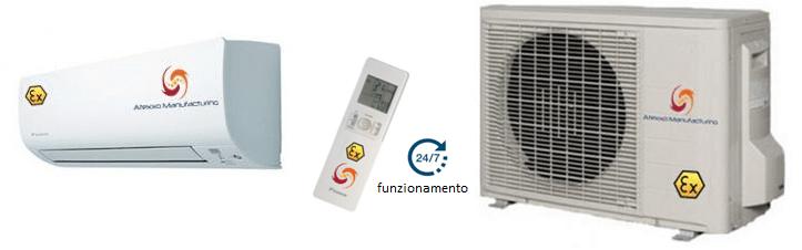 Atex zona 2, climatizzatori sistema split antideflagranti